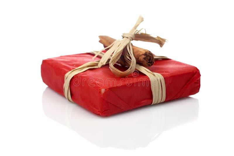 czerwony prezent fotografia stock