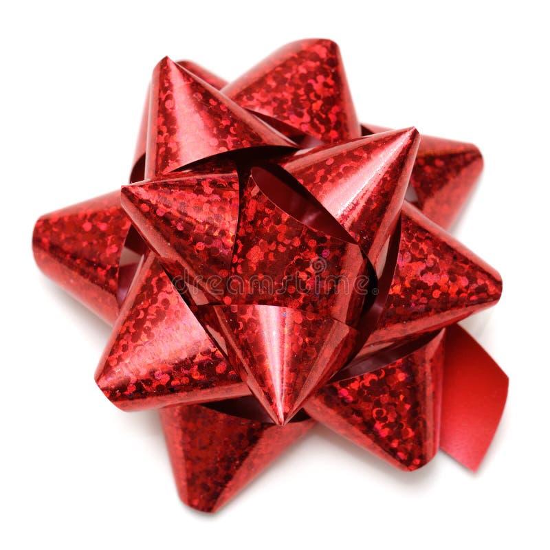 Download Czerwony prezenta łęk obraz stock. Obraz złożonej z dzień - 28963275