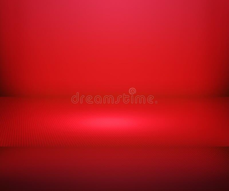 Czerwony Prosty światło reflektorów sceny tło ilustracji