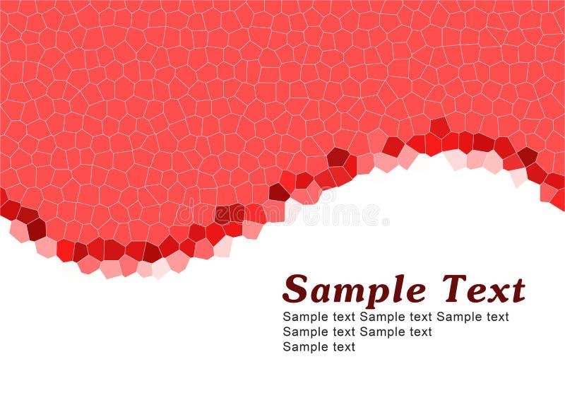 czerwony prosty szablon royalty ilustracja