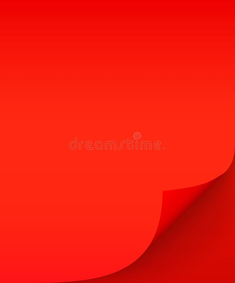 Czerwony prześcieradło papier z fryzującym kątem i miękki cień, szablon dla twój projekta Set r?wnie? zwr?ci? corel ilustracji we ilustracji