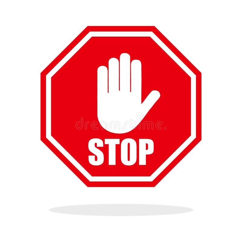 Czerwony przerwy ręki znak tła ikony ciągnikowej sieci kołowy biel ilustracji