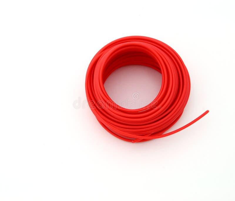 czerwony przewód zdjęcia stock