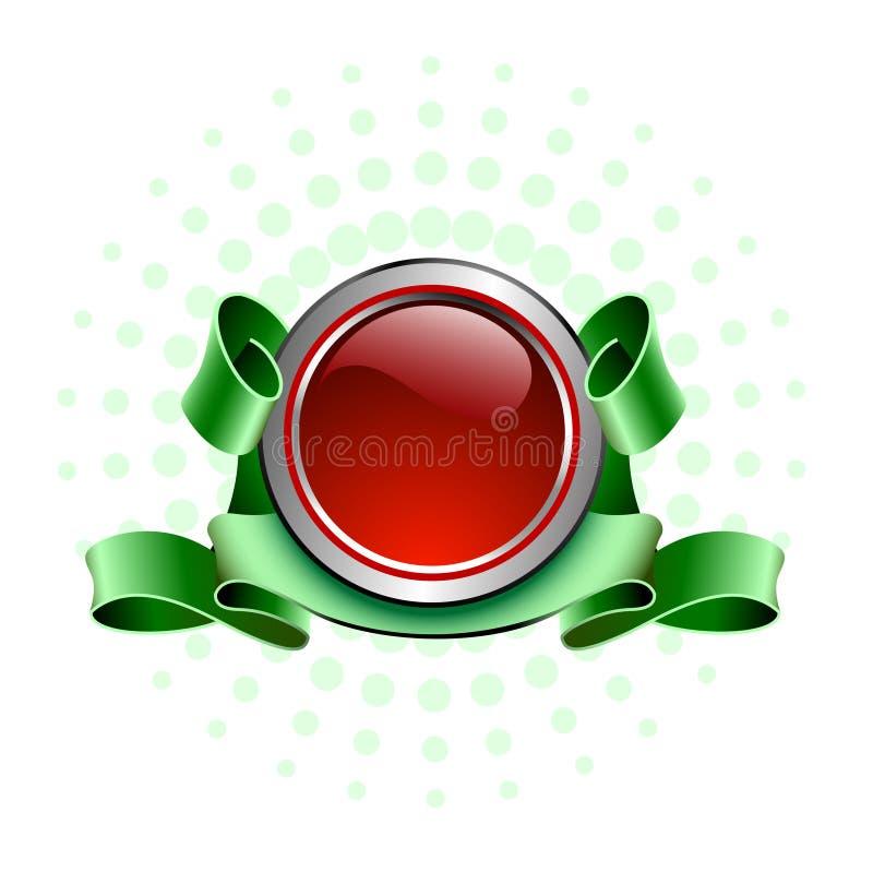 czerwony przycisk royalty ilustracja