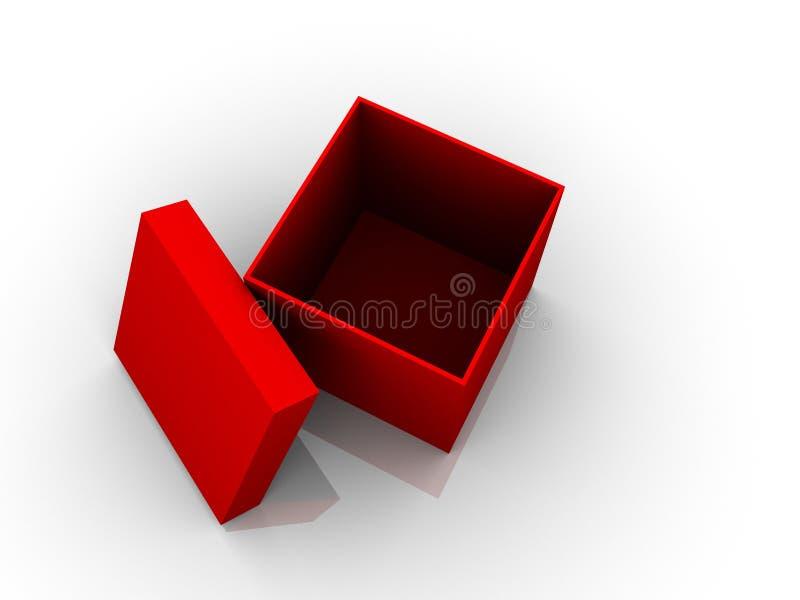 czerwony pudełkowata royalty ilustracja