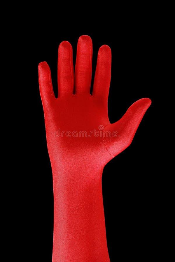 czerwony ręce zdjęcie stock