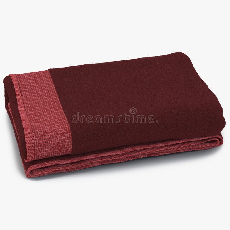 Czerwony ręcznik odizolowywający na bielu ilustracja 3 d ilustracja wektor