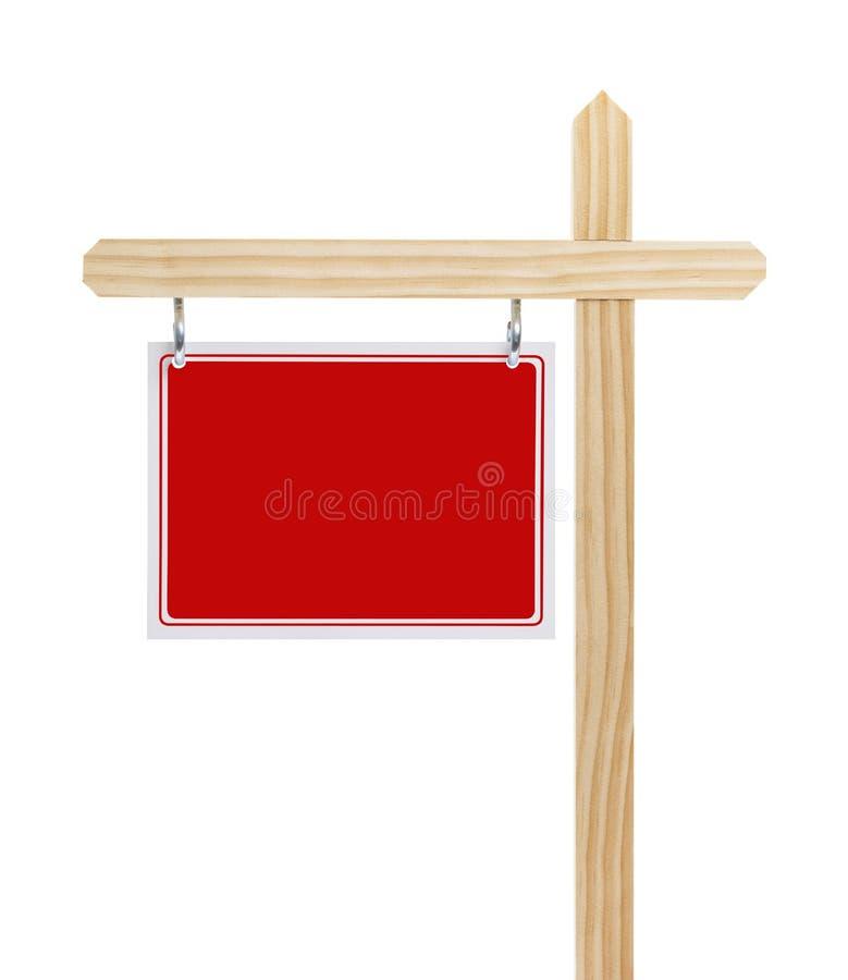 Czerwony Real Estate Podpisuje obraz stock
