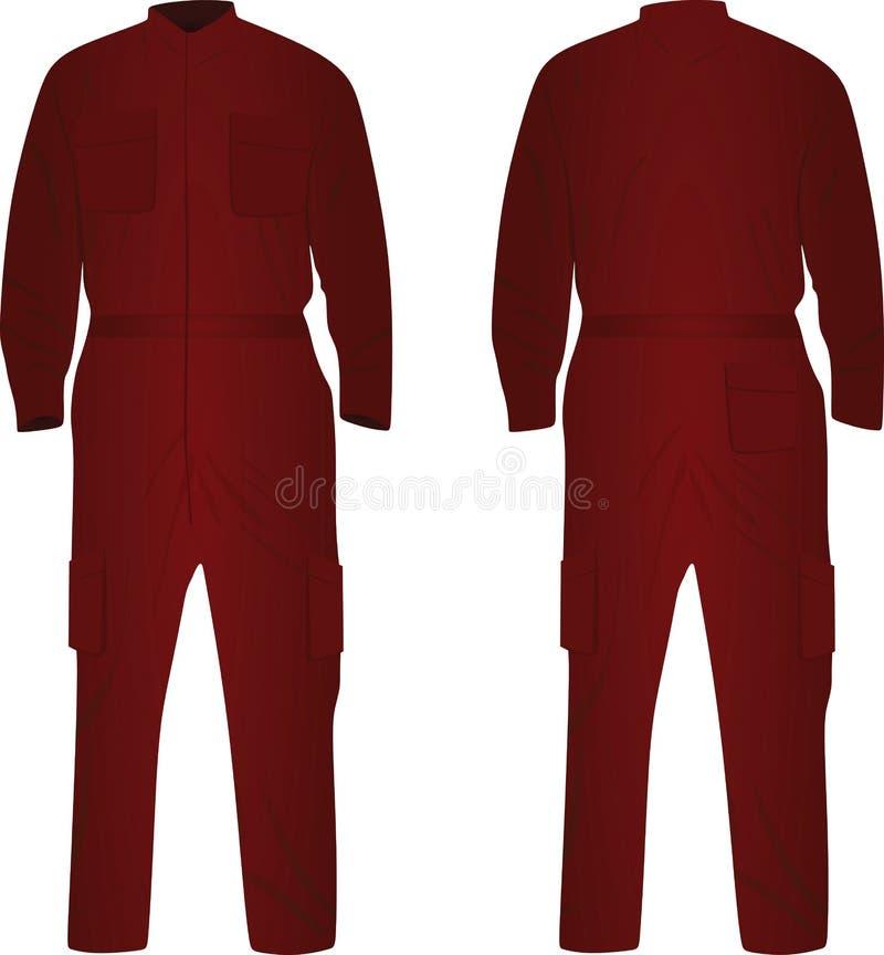 Czerwony repairman mundur ilustracja wektor