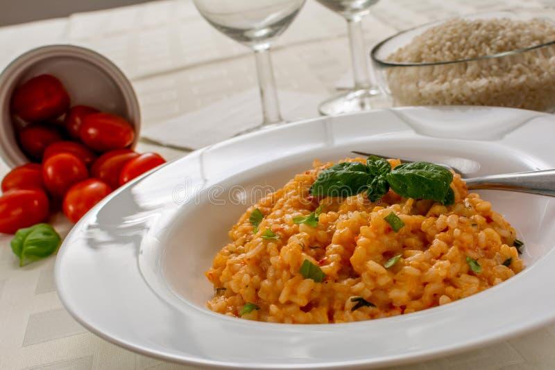Czerwony risotto zdjęcie royalty free
