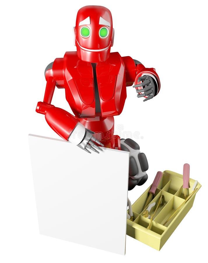 czerwony robot royalty ilustracja