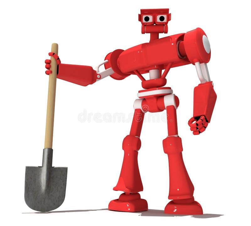 czerwony robot ilustracja wektor