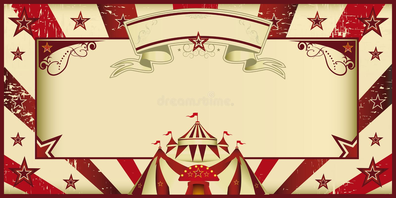 Czerwony rocznika cyrka zaproszenie ilustracja wektor