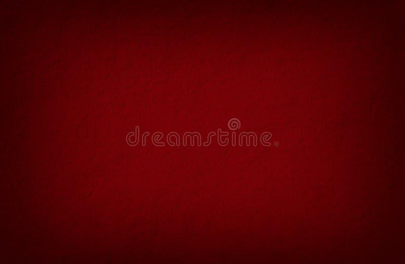 Czerwony rocznika tło, papierowa tekstura, puste miejsce retro, szorstki, grunge, zmrok ilustracja wektor