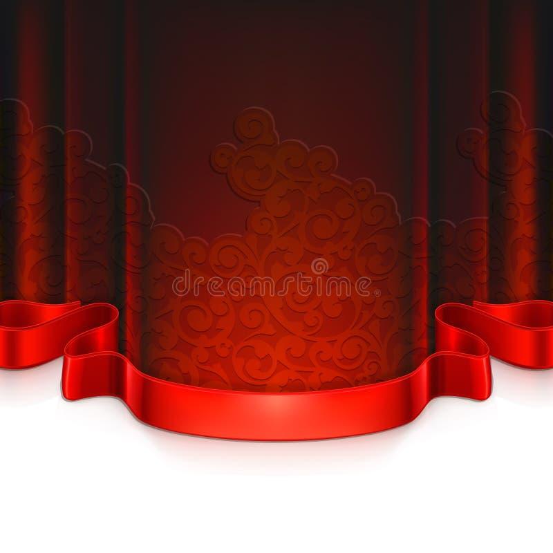Czerwony rocznika tło royalty ilustracja