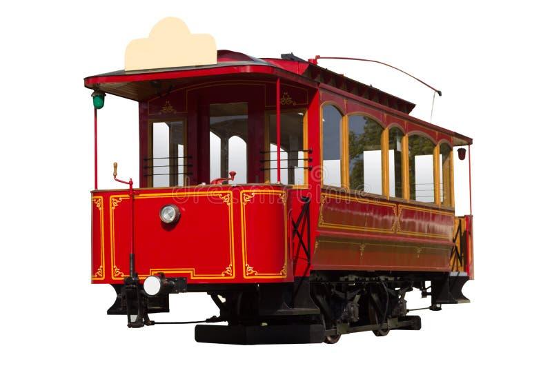 Czerwony rocznika tramwaj zdjęcia stock