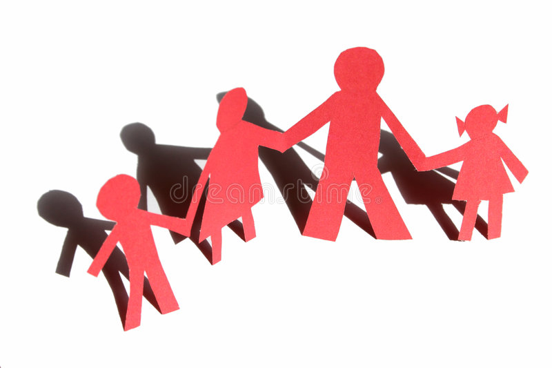 czerwony rodzinna obraz stock