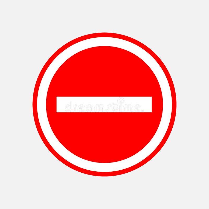 Czerwony round przerwa znak, przerwa ilustracji