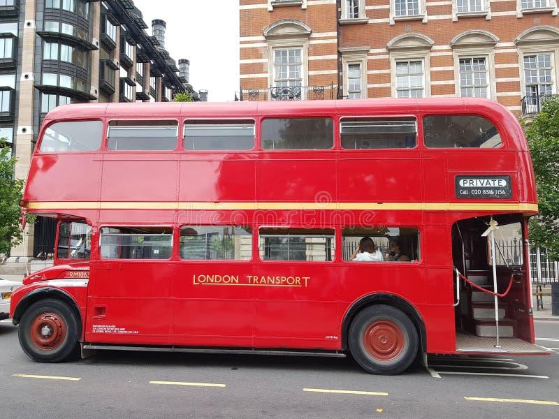 Czerwony Routemaster autobus fotografia stock
