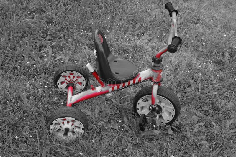 Czerwony rower obraz stock