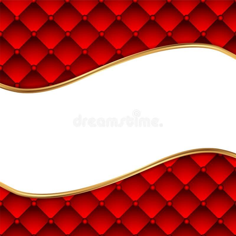 Czerwony rzemienny tło z przestrzenią dla teksta ilustracji