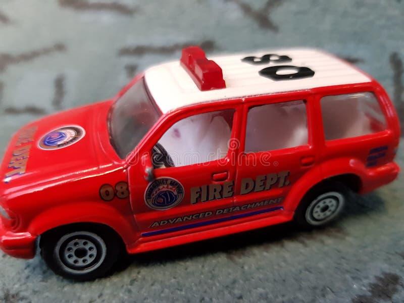 Czerwony samochód obraz royalty free