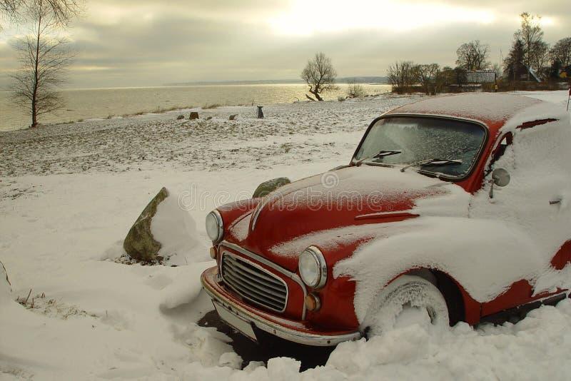 czerwony samochód obrazy royalty free
