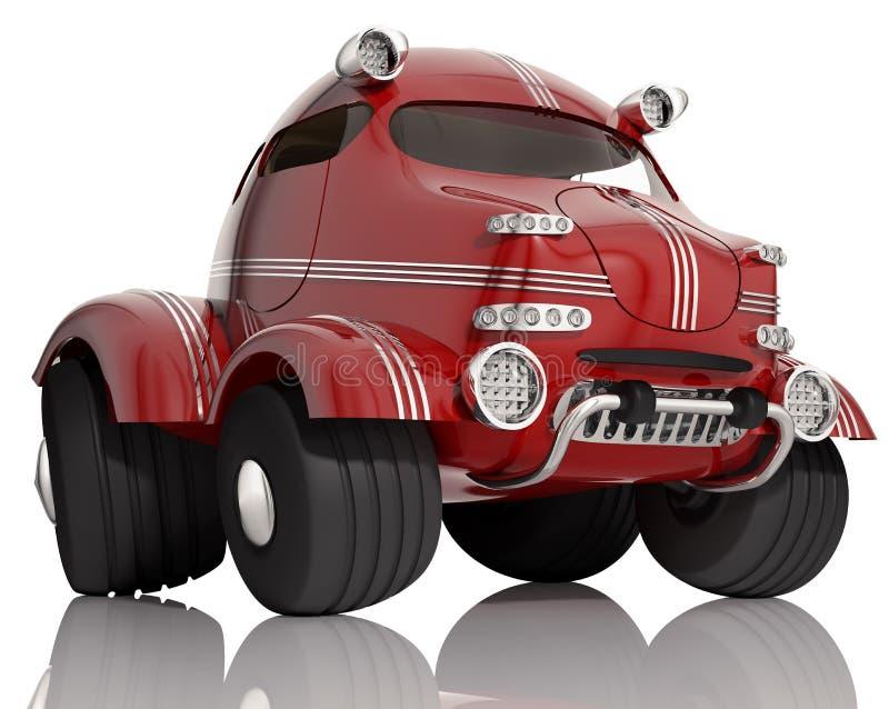 Czerwony samochód. ilustracji