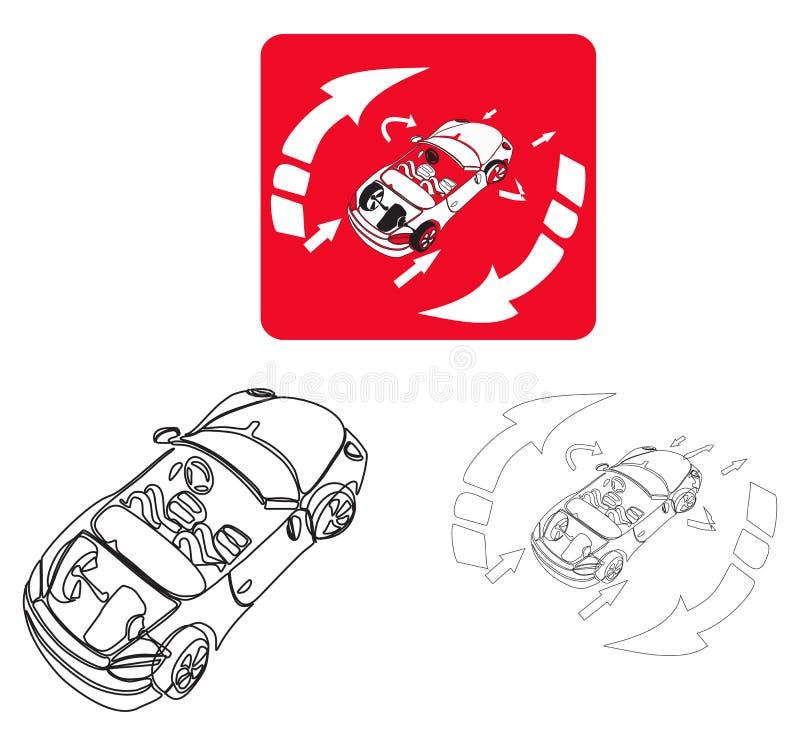 Czerwony samochód royalty ilustracja