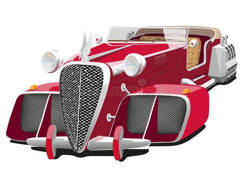 Czerwony samochód przyszłość royalty ilustracja