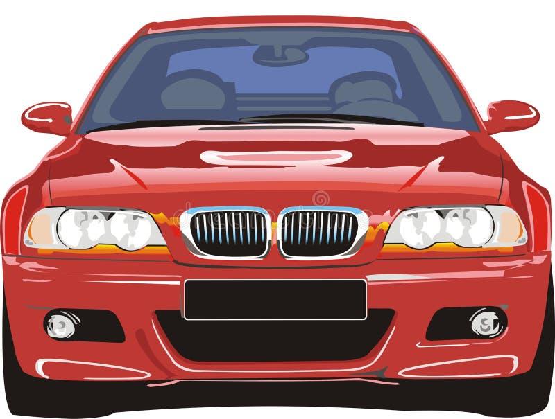 czerwony samochód sportu royalty ilustracja