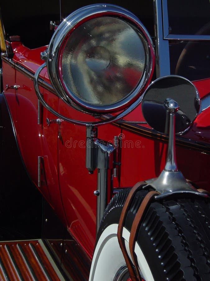 czerwony samochodów rocznik obraz stock