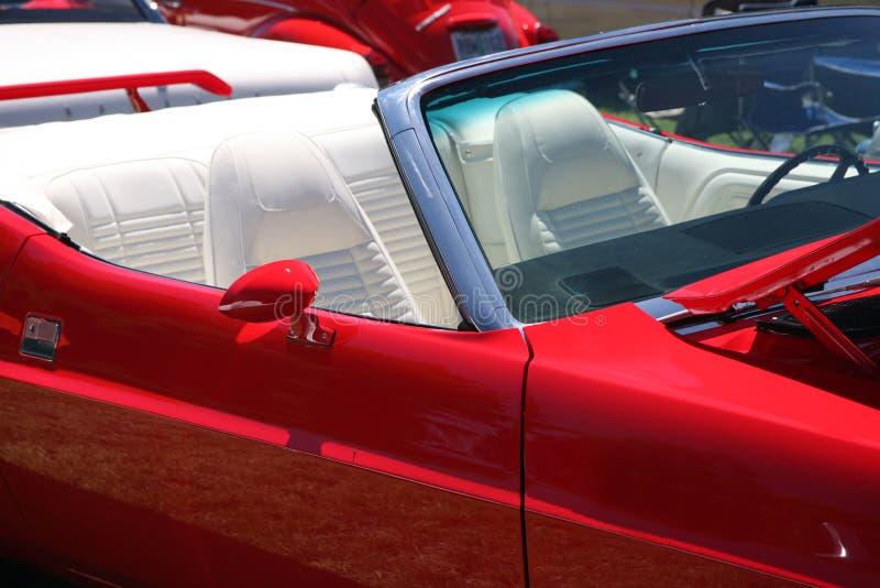 czerwony samochodów sportowych vintaqe fotografia stock