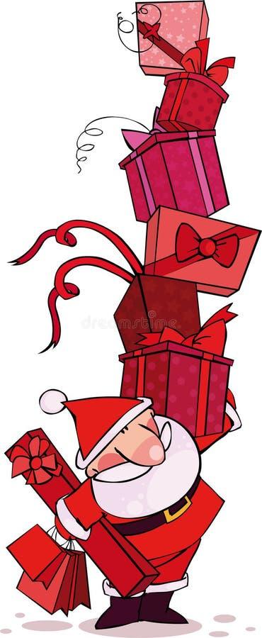czerwony Santa royalty ilustracja