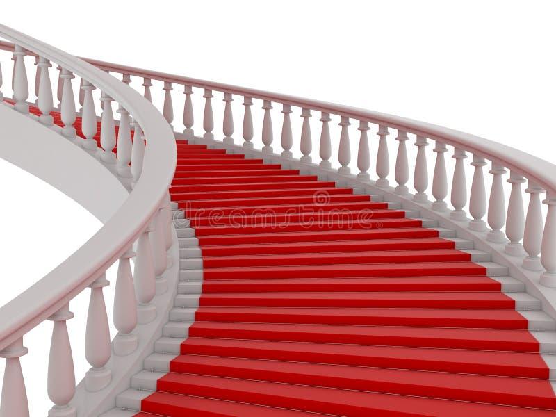 czerwony schody royalty ilustracja