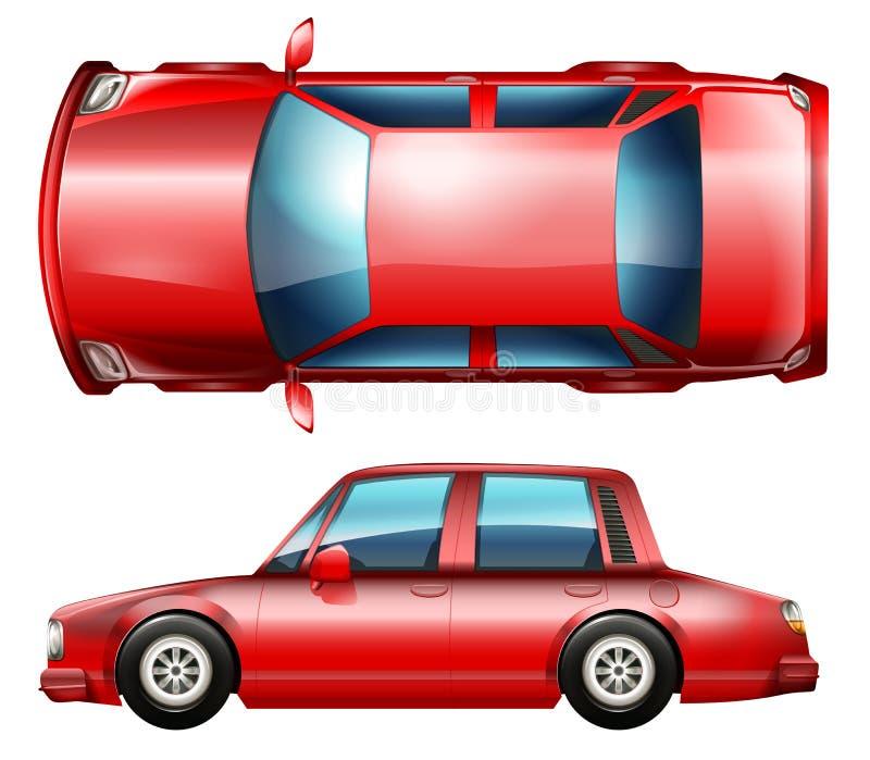Czerwony sedanu pojazd ilustracji