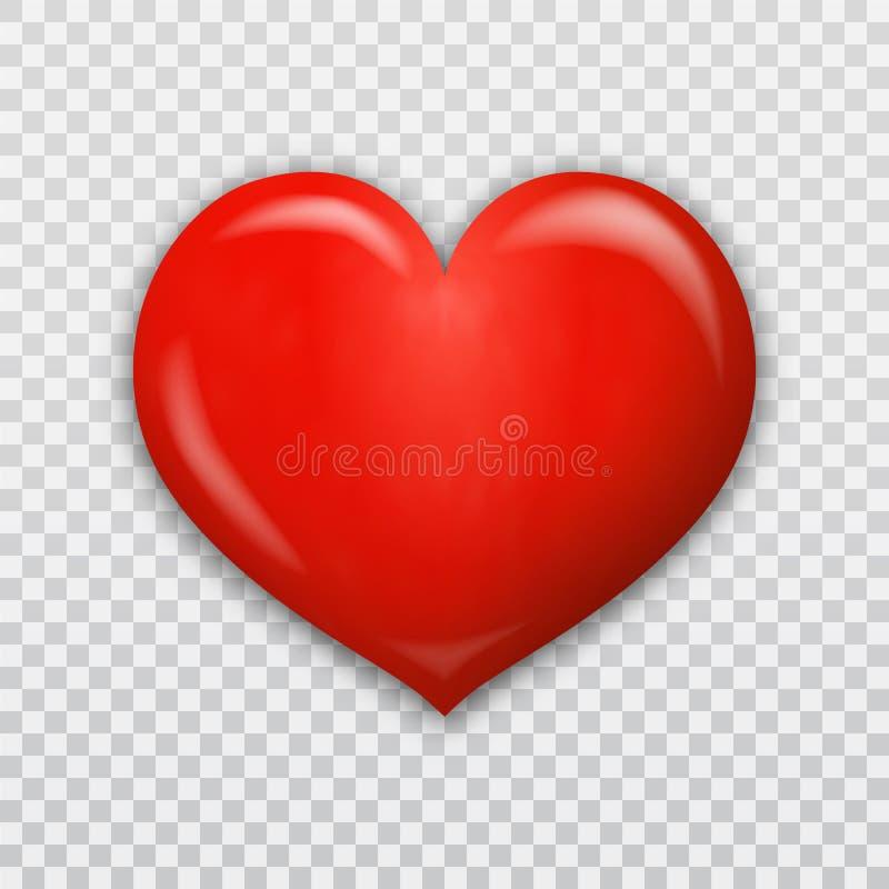 Czerwony serca 3d wektor royalty ilustracja