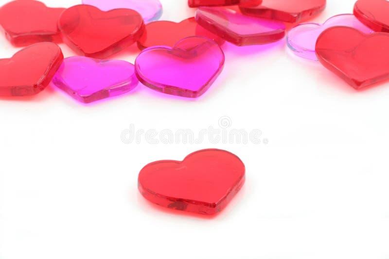 czerwony serca pojęcie miłości obraz stock