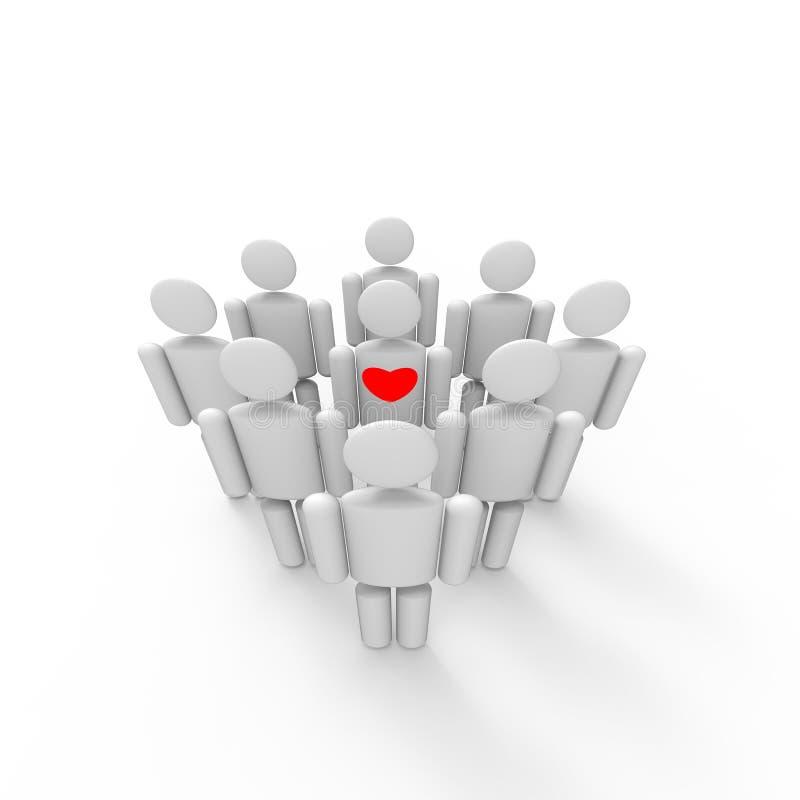 Download Czerwony serce ilustracji. Ilustracja złożonej z środki - 28953071