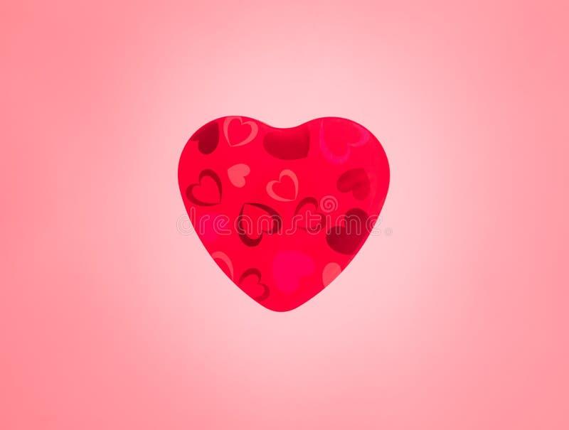 Czerwony serce Prezent na walentynka dniu Czerwony tło ilustracji