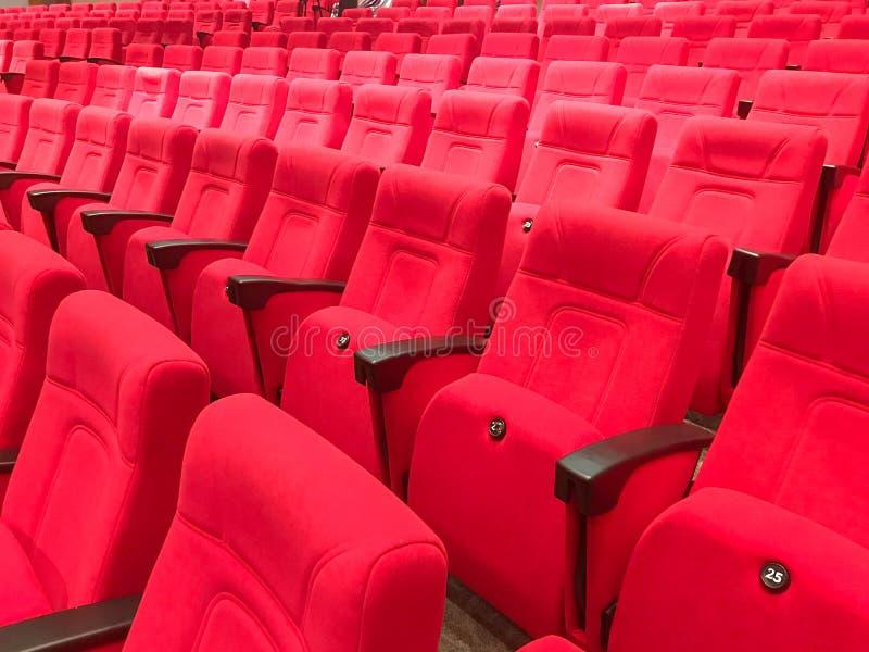 Czerwony siedzenie w audytorium sala zdjęcia royalty free