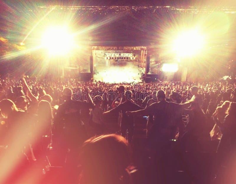Czerwony skała koncert zdjęcie royalty free