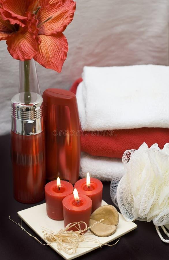 czerwony spa obraz stock