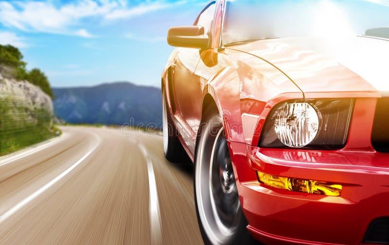 Czerwony sportowy samochód zdjęcia royalty free