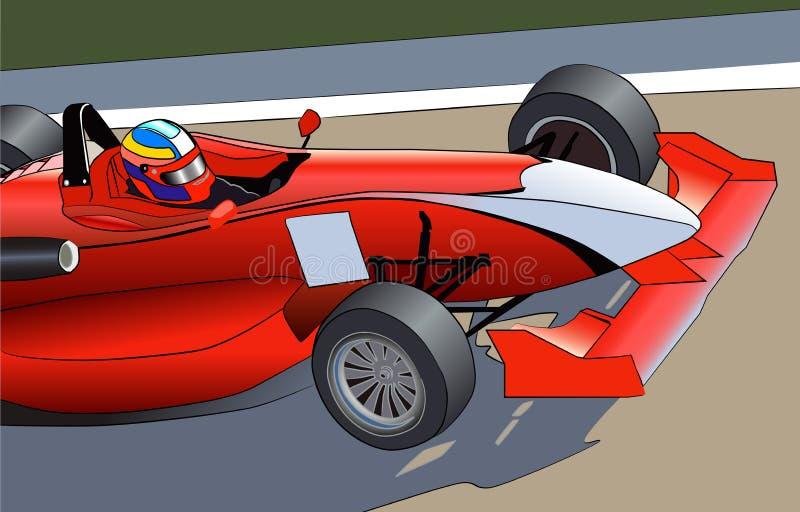 Czerwony sportowy samochód royalty ilustracja