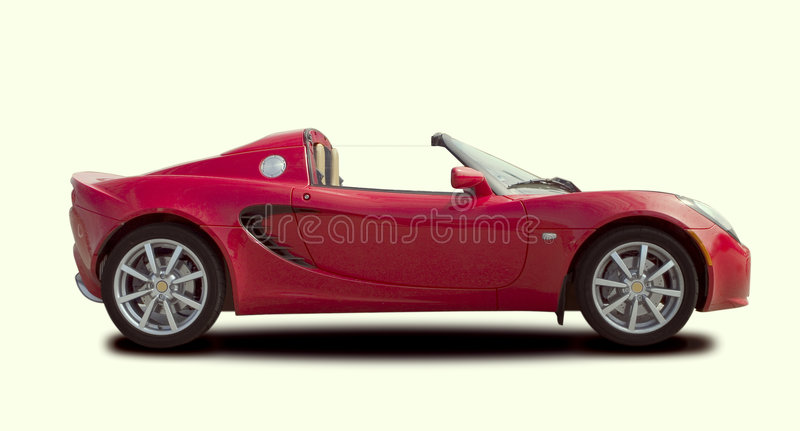 czerwony sportowy samochód obrazy royalty free