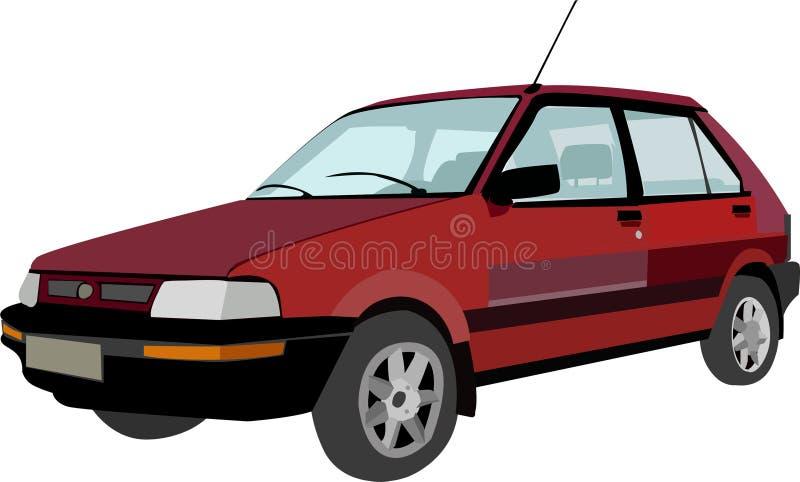 Czerwony stary samochód zdjęcie stock