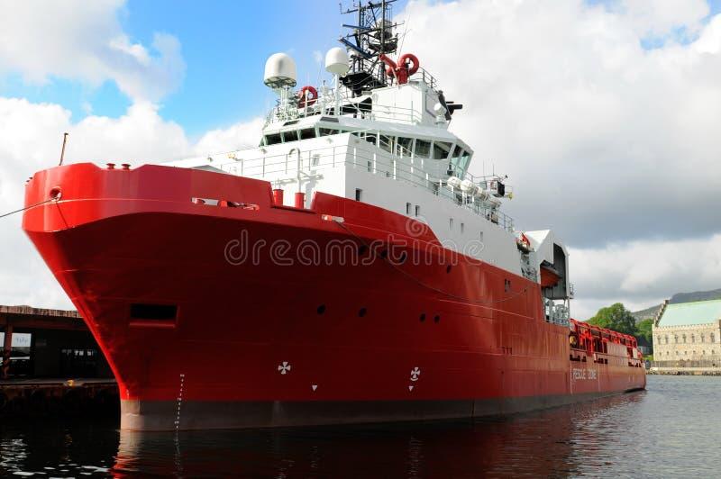 czerwony statek zdjęcie royalty free