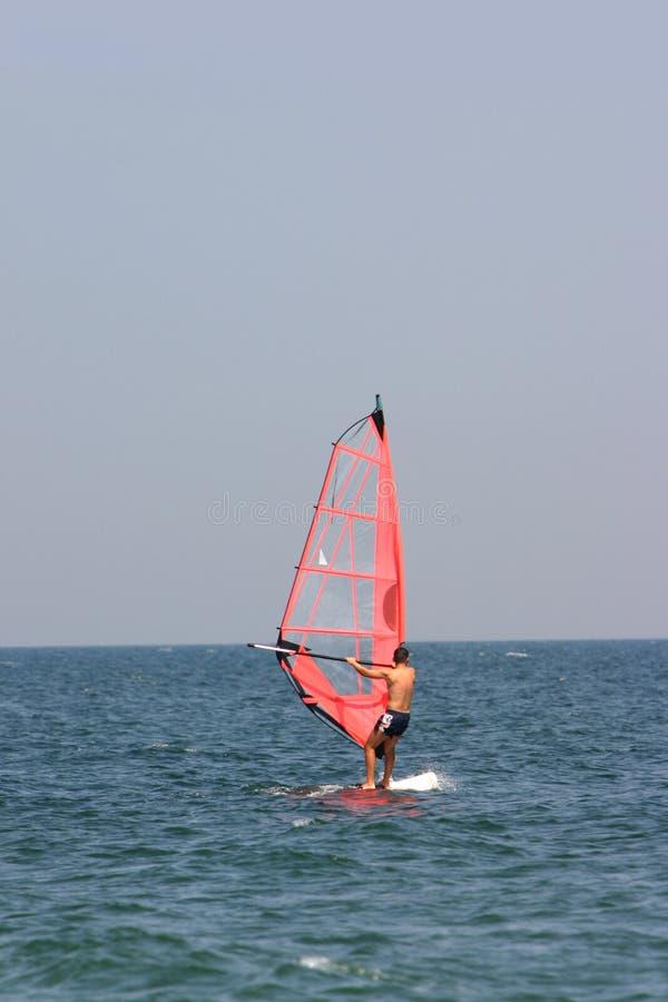 czerwony surfera zdjęcie stock
