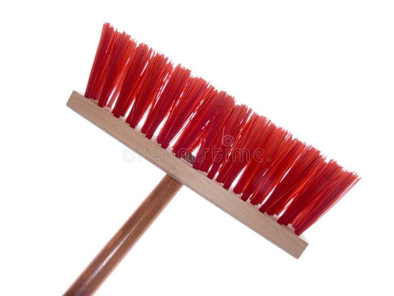 czerwony szczotkarski drewniane zdjęcie stock